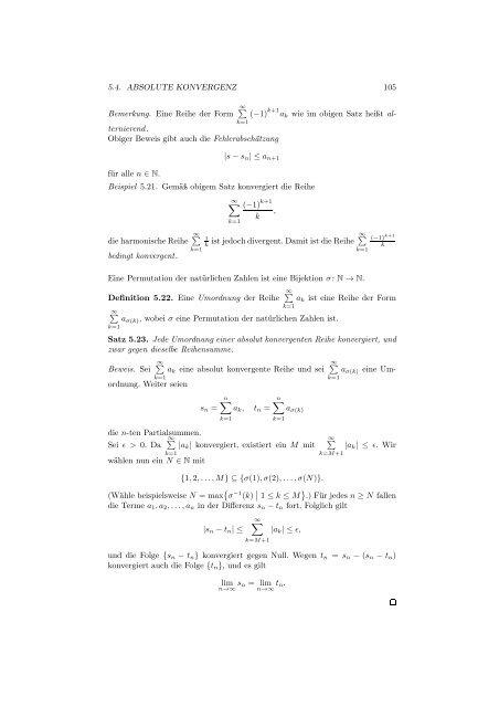 Differenzial- und Integralrechnung I