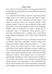 A Rákóczi család Kevés család van a magyar történelemben, amely ...