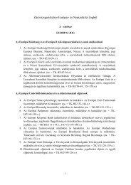 Záróvizsga-tételsor Európai- és Nemzetközi Jogból