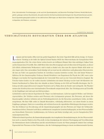 verschlüsselte botschaften über dem atlantik - Ludwig-Maximilians ...
