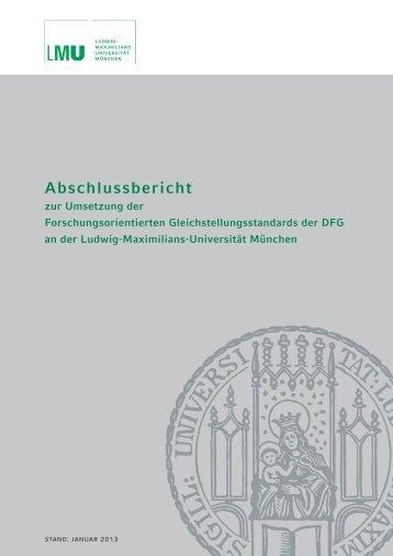 Abschlussbericht - Ludwig-Maximilians-Universität München