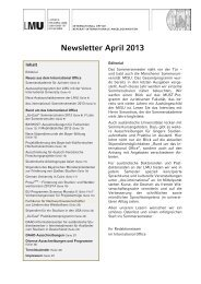 Newsletter April 2013 - LMU
