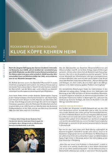 kluGE köpfE kEHrEn HEim - LMU München