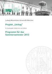 Sommersemester 2013 - LMU München