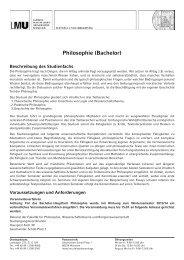 Philosophie (Bachelor) - LMU