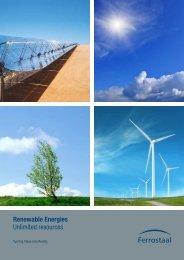 Renewable Energies Unlimited resources - Ferrostaal