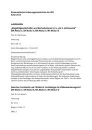Kommentiertes Vorlesungsverzeichnis der UFG SoSe 2013 ...