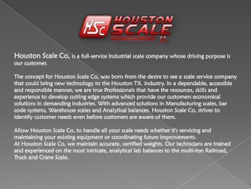 Houston Industrial Scale Company