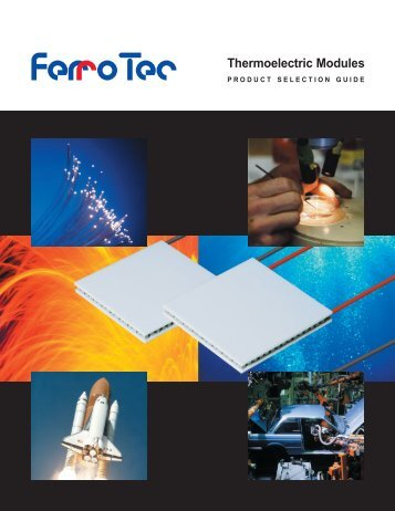 Thermoelectric Module Product Selection Guide - Ferrotec