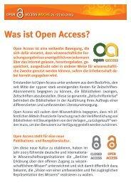 Was ist Open Access? - Westfälische Wilhelms-Universität Münster