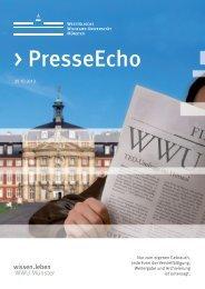 PresseEcho - Westfälische Wilhelms-Universität Münster