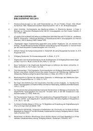 vollständige Bibliografie der Jahre 1963 bis 2013 - Westfälische ...