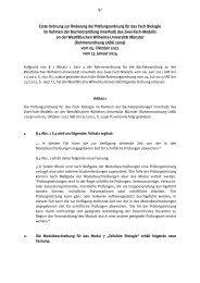 Erste Ordnung zur Änderung der Prüfungsordnung für das Fach ...