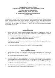Prüfungsordnung für das Fach Deutsch zur Rahmenordnung für die ...