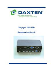 Voyager 100 User Manual German - Daxten