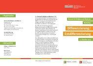 Differenzierung - Westfälische Wilhelms-Universität Münster