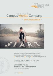 Campus meets Company - Universität Passau