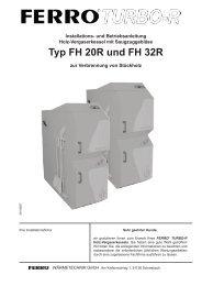Typ FH 20R und FH 32R - ferro wärmetechnik