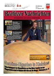 Beelitzer Nachrichten - Oktober 2014
