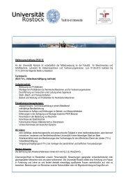 Stellenausschreibung D122-13 An der Universität Rostock ist ...