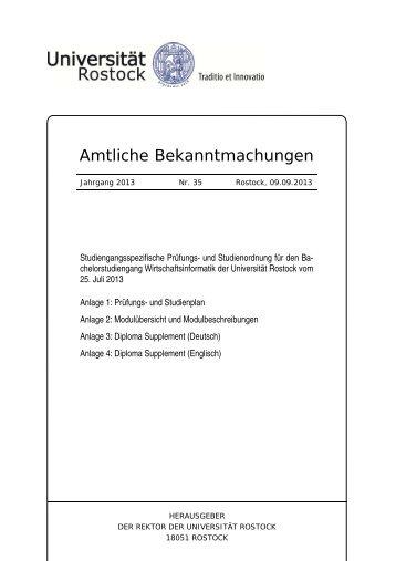 Studiengangsspezifische Prüfungs - Universität Rostock
