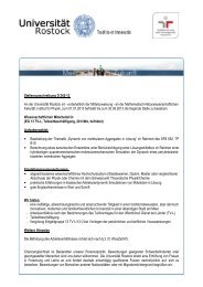 Stellenausschreibung D 242-12 An der Universität Rostock ist ...
