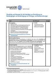 Checkliste für die Einrichtung von Studiengängen - Universität ...