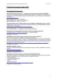 Förderinformationen Mai 2012 - Universität Rostock