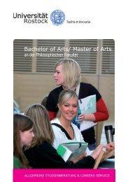Bachelor of Arts/ Master of Arts - Universität Rostock