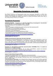 Newsletter Forschung Juni 2013 - Universität Rostock