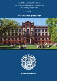 Veranstaltungsleitfaden - Universität Rostock