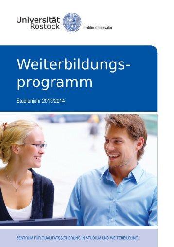Weiterbildungs- programm - Universität Rostock
