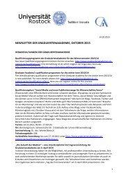 Newsletter Oktober 2013 - Universität Rostock