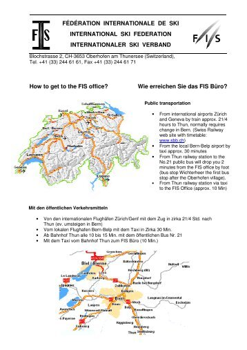 How to get to the FIS office - International Ski Federation