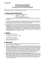 Wahlbekanntmachung 2012 - Universität Stuttgart