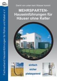 Hauseinführungen für Häuser ohne Keller - wasserdichte ...