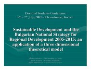 Sustainable Development and the Bulgarian National Strategy for ...