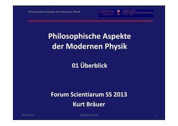 Philosophische Aspekte der Modernen Physik