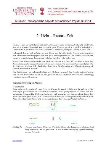 2. Licht – Raum - Zeit
