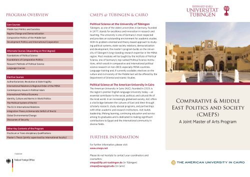 Comparative & Middle East Politics and Society (CMEPS)