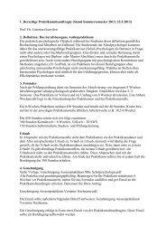 Praktikum MSc Schulpsychologie