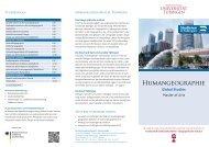 Humangeographie - Universität Tübingen