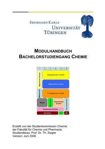 modulhandbuch bachelorstudiengang chemie - Universität Tübingen
