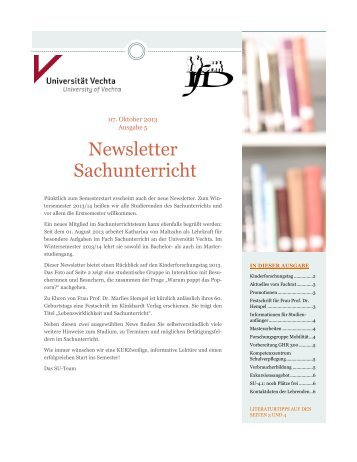 Newsletter Oktober 2013_131007 - Universität Vechta
