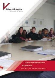 1. Studienfachkonferenz Mathematik
