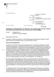 Bewilligung des Bildungskredits und Übernahme der ...
