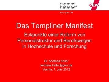 Das Templiner Manifest - Universität Vechta