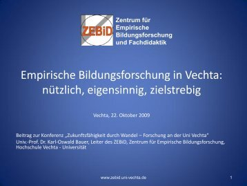 Professionelles Selbst - Universität Vechta