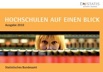 Hochschulen auf einen Blick, Ausgabe 2010