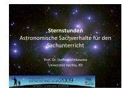 Sternstunden Astronomische Sachverhalte für ... - Universität Vechta